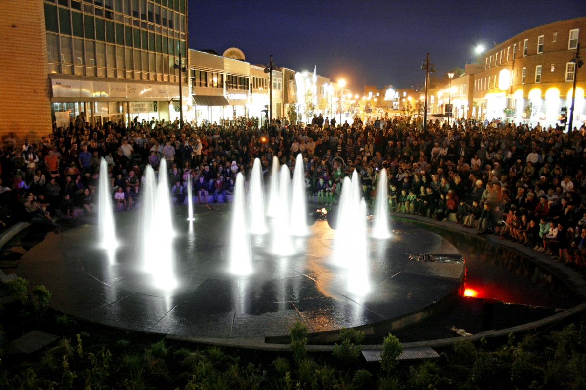 Inauguration de la Fontaine de La place de la Réserve mondiale de la biosphère Manicouagan-Uapishka.1