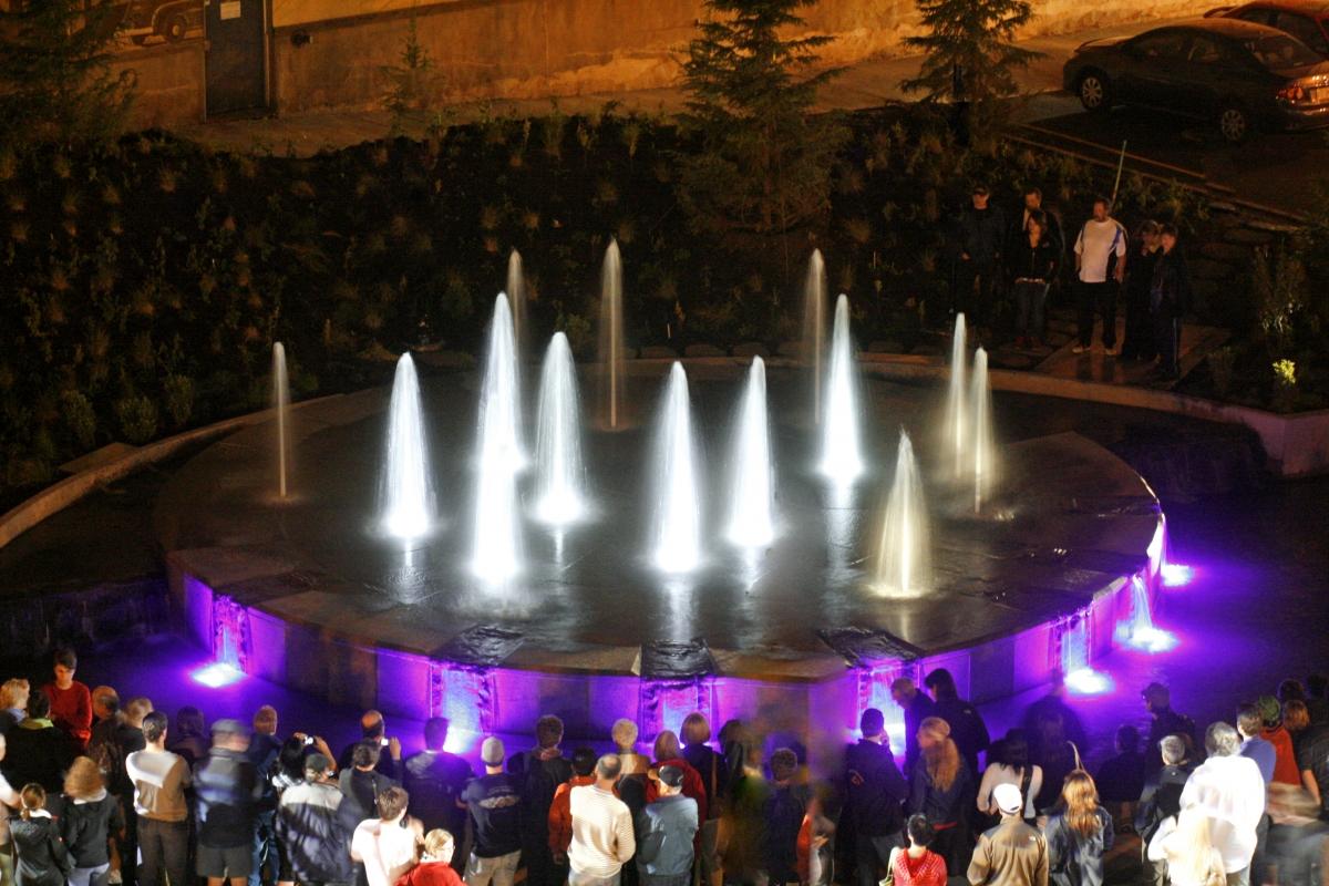 Inauguration de la Fontaine de La place de la Réserve mondiale de la biosphère Manicouagan-Uapishka.2