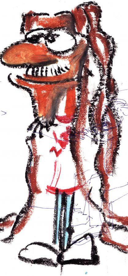 Portrait de Fred, réalisé par l'artiste musicien Bob Miller.