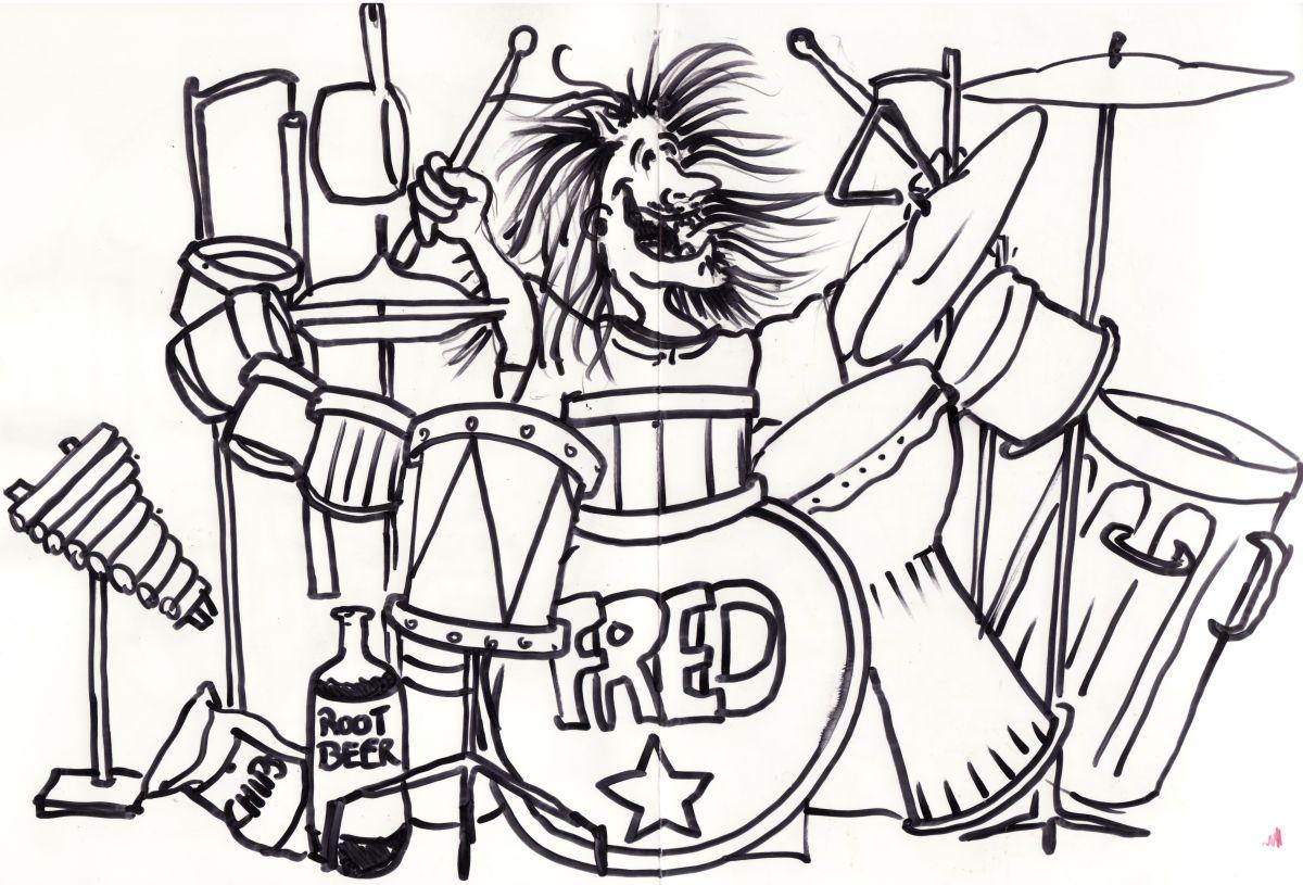 « Le Paradis selon Fred », dessin de l'artiste marionnettiste Pierre Robitaille.